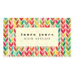 Aztec Arrows Pattern Hair Stylist Template Pack Of Standard Business Cards