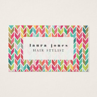 Aztec Arrows Pattern Hair Stylist Template Business Card