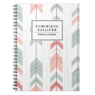 Aztec Arrows Pattern Personalized Notebook