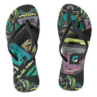Aztec Art Flip Flops