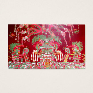 Aztec Art on Red Design Business Card
