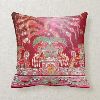 Aztec Art on Red Design Cushion