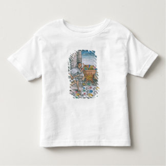 Aztec artisans dyeing feathers toddler T-Shirt