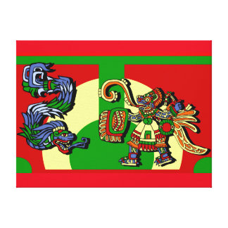 Aztec Artistic Design Canvas Print