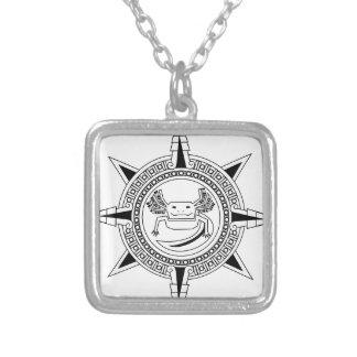 Aztec Axolotl Silver Plated Necklace