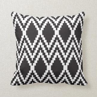 Aztec Black && White Cushion