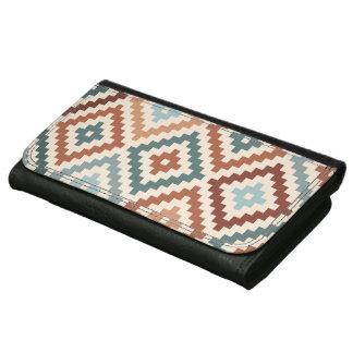 Aztec Block Symbol Lg Ptn Teals Crm Terracottas Wallet