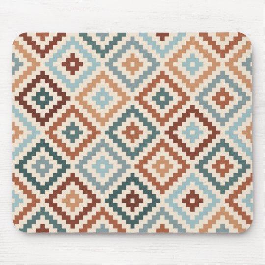 Aztec Block Symbol Rpt Ptn Teals Crm Terracottas Mouse Mat
