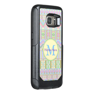 Aztec Boho Pastels Monogram galaxyS7 Girly Chic OtterBox Samsung Galaxy S7 Case