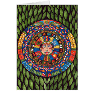 Aztec Calendar Greeting Card