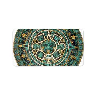 Aztec Calendar in detail Address Label