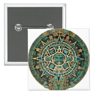 Aztec Calendar in detail Button