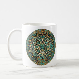 Aztec Calendar in detail Basic White Mug