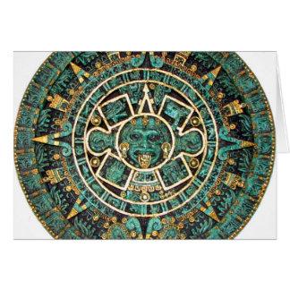 Aztec Calendar in detail Greeting Card