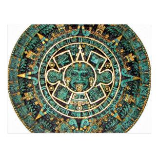 Aztec Calendar in detail Postcard