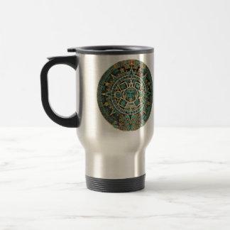 Aztec Calendar in detail Stainless Steel Travel Mug