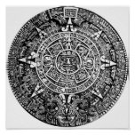 Aztec Calendar Print