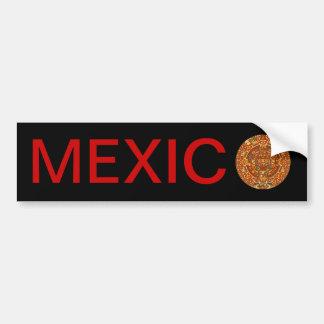 Aztec Calendar Stone or Sun Stone of Mexico. Bumper Sticker
