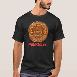 Aztec Calendar Stone or Sun Stone of Mexico. T-Shirt