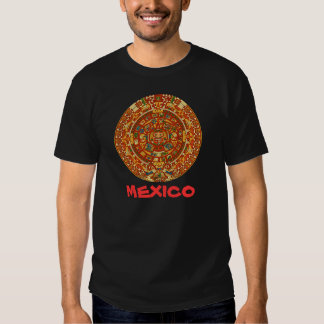 Aztec Calendar Stone or Sun Stone of Mexico. T Shirts
