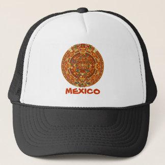 Aztec Calendar Stone or Sun Stone of Mexico. Trucker Hat