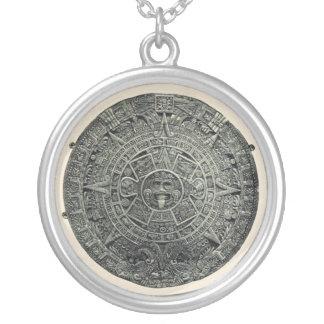 Aztec Calendar Stone Pendant