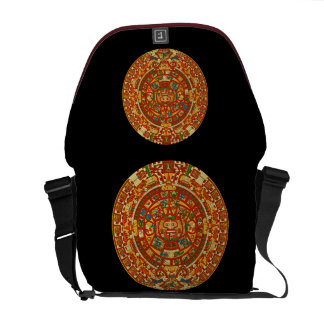 Aztec Calendar Stone Rickshaw Messenger Bag