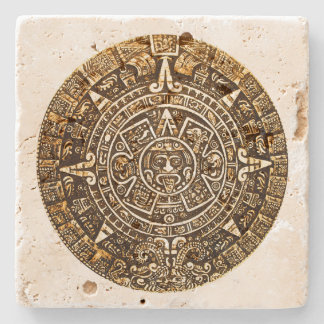 Aztec Calender Stone Coaster Stone Coaster