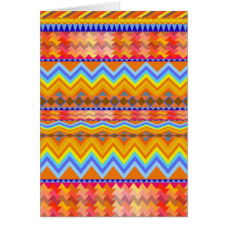 Aztec Chevron Andes Pattern Card
