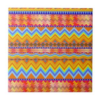 Aztec Chevron Andes Pattern Tile