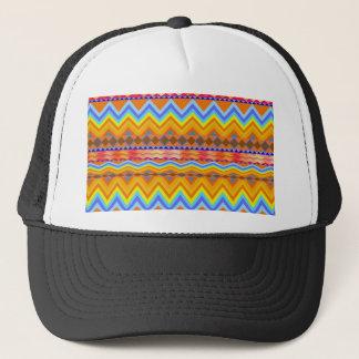 Aztec Chevron Andes Pattern Trucker Hat