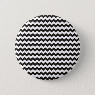 Aztec Chevron black and white zigzag stripes 6 Cm Round Badge