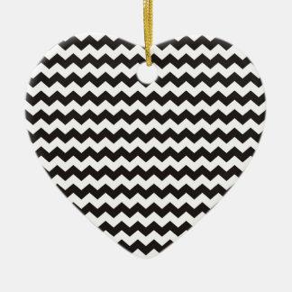 Aztec Chevron black and white zigzag stripes Christmas Ornament