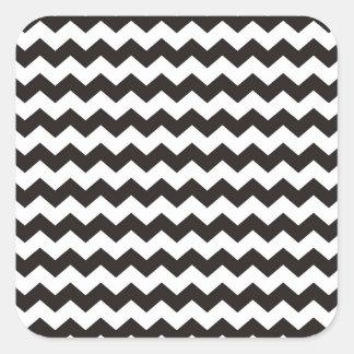 Aztec Chevron black and white zigzag stripes Square Sticker