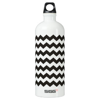 Aztec Chevron black and white zigzag stripes Water Bottle