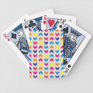 Aztec Chevron colorful Bicycle Playing Cards