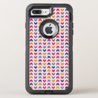 Aztec Chevron colorful pattern OtterBox Defender iPhone 8 Plus/7 Plus Case