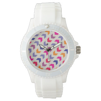 Aztec Chevron colorful pattern Wristwatch