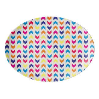 Aztec Chevron colorful Porcelain Serving Platter