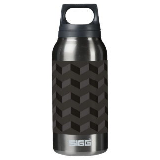 Aztec Chevron dark Pattern zigzag stripes bottle