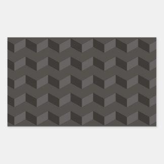 Aztec Chevron dark Pattern zigzag stripes Rectangular Sticker