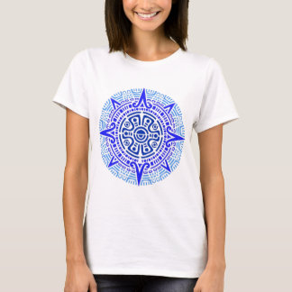 aztec circle blue T-Shirt