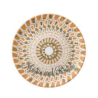 Aztec Circle Photo Template Plate