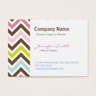 Aztec Colors - Chic Chevron Zigzag Pattern Business Card