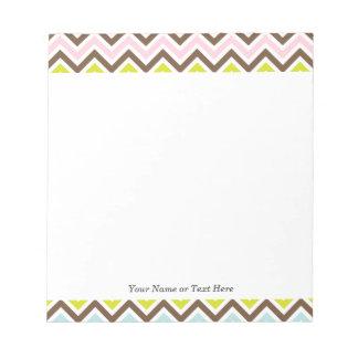 Aztec Colors - Chic Chevron Zigzag Pattern Notepads