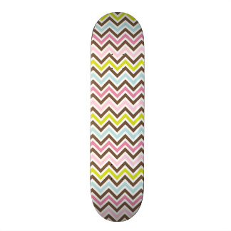 Aztec Colors - Chic Chevron Zigzag Pattern Skate Decks