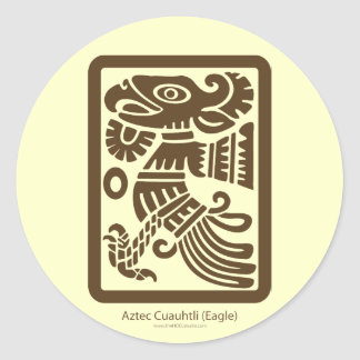 Aztec Cuauhtli - Eagle (Brown) Sticker