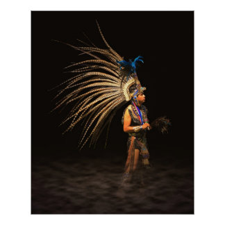 Aztec Dancer Poster