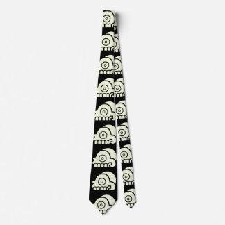 Aztec Death's Head Skull Tie