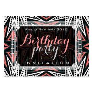 Aztec Desert Modern Tribal Art Mini Invitations Business Card